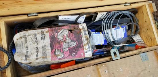 Ammunition Box with Automotive Belts; Cargo Straps; Marker Flags