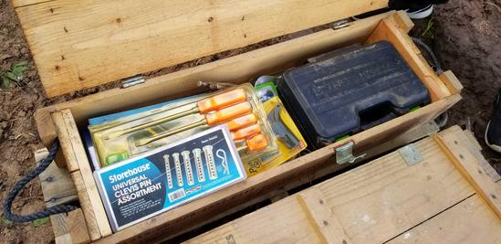 Ammunition Box with Hand Tools