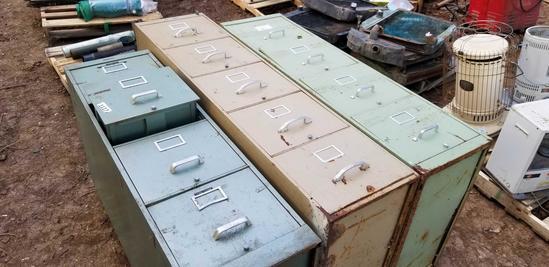 3 PCS: 4 Drawer Filing Cabinet; 5 Drawer Filing Cabinet