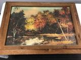 Artist Signed Landscape Painting