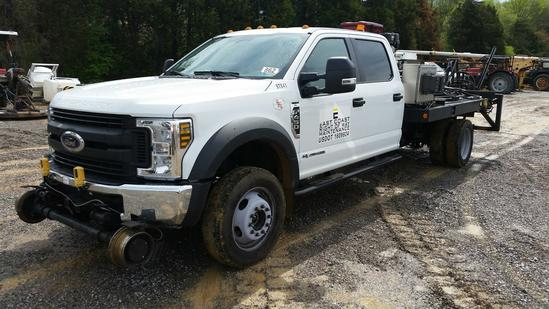 2018 Ford F-450 Crew Cab 4x4 Bridge Truck (Unit #BTX41)