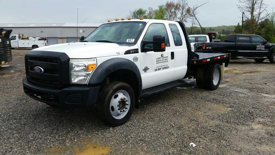 2011 Ford F-450 4x4 Ext. Cab Flat Bed Truck (Unit #T43)