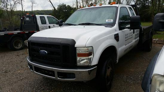 2008 Ford F-350 4WD Ext. Cab Flatbed Truck (Unit #T34)