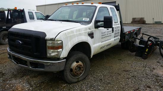2008 Ford E-350 Ext. Cab 4x4 Flat Bed Truck (Unit #T33) (INOPERABLE)