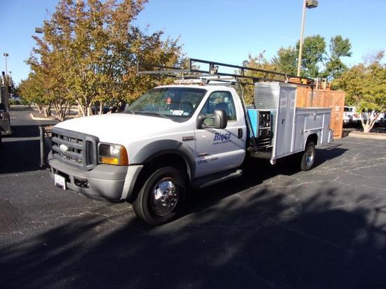 2007 Ford F550XL Reg. Cab Utility Truck