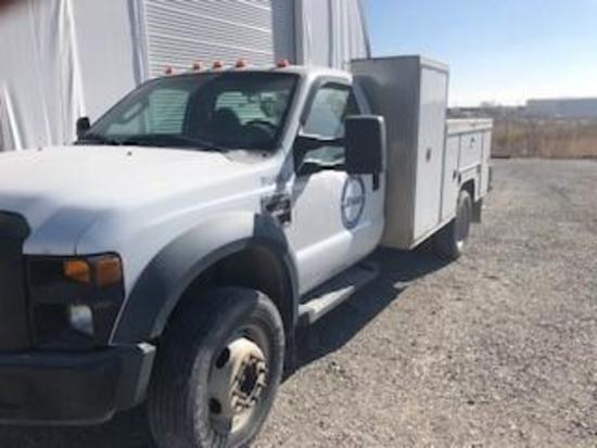 2008 Ford F550 XL 4X4 Utility Truck (Unit #PU-494)