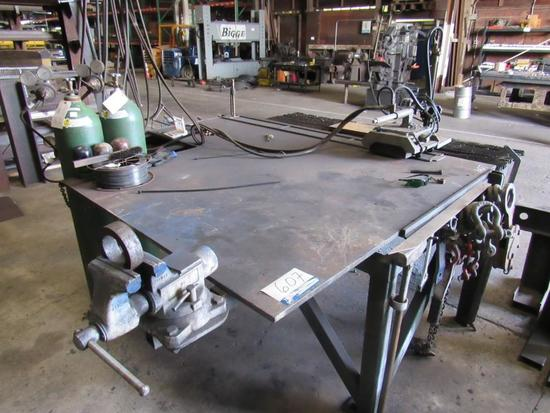 Victor Oxy-Acetylene Track Torch w/Steel Table