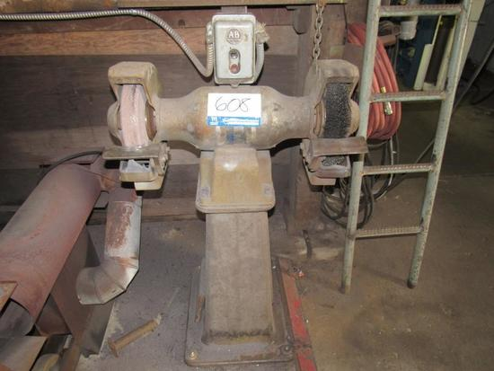 Grinding Wheel & Brush On Stand.