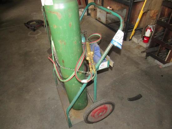 Oxy-Acetylene Cart, Gauges & Hoses, (Tanks Not Included)