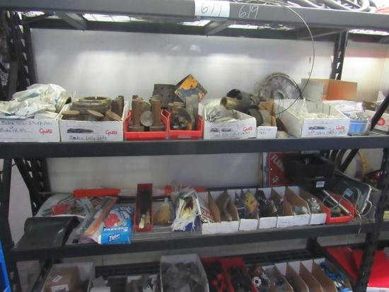Misc. Shop Items, 80 In. Shelf Includes Contents.