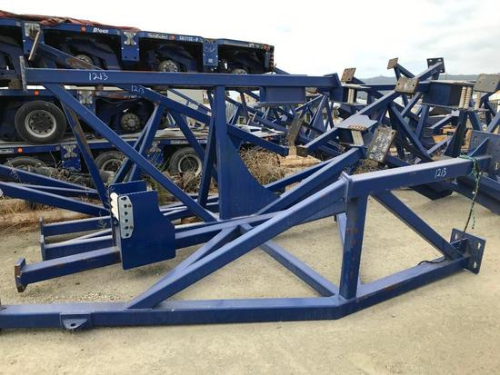 (4) Custom Strand Jack Recoiler Support Frame, Less Recoiler