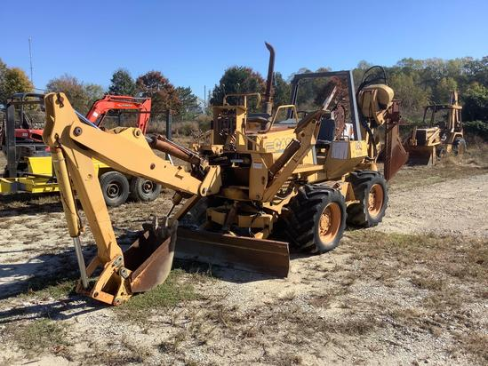 Case 860 4x4x4 Trencher w/ Backhoe Attachment