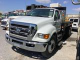 2008 FORD F650 FLATBED TRUCK