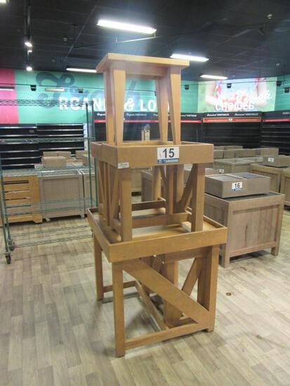 (5) Wooden Stands
