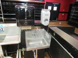 Stainless Steel Hand Sink, Soap & Towel Dispenser