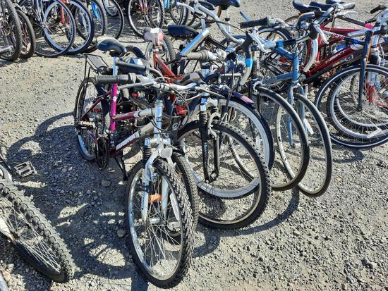 (6) BIKES - GRAND LEDGE, MONGOOSE, PARKWAY, RALEIGH, SCHWINN