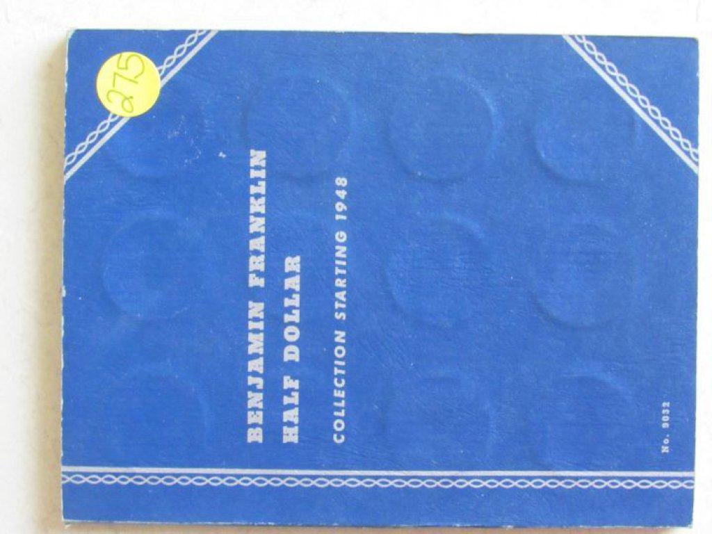 Franklin Half Dollar Book with 28 Franklin Half Dollars