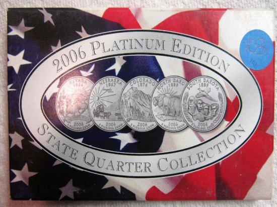 2006 State Quarters Platinum Mint Set Philadelphia