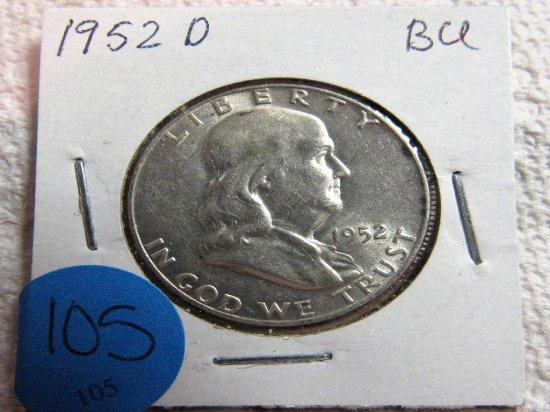 1952-D Franklin Half Dollar Gem BU