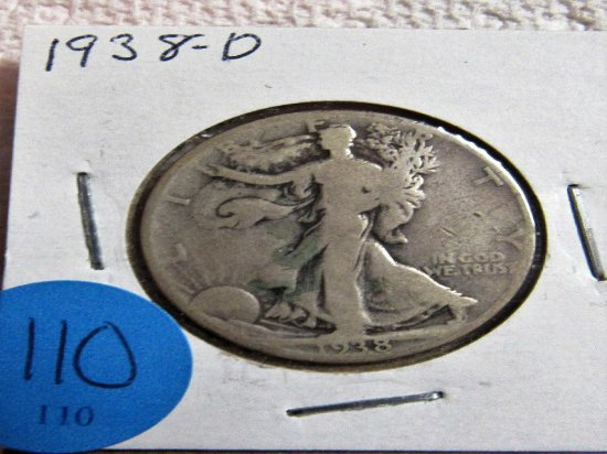 1938-D Walking Half Dollar