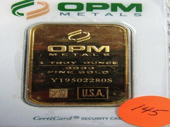 1 OZ OMP GOLD BAR   Y19502280S