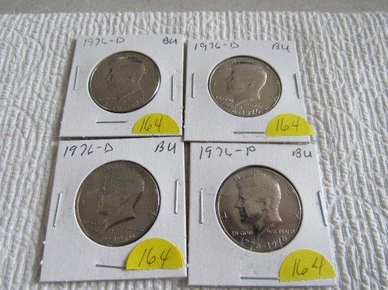 (4) Bicentennial Kennedy Half Dollars