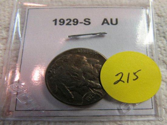 1929-S AU Buffalo Nickel