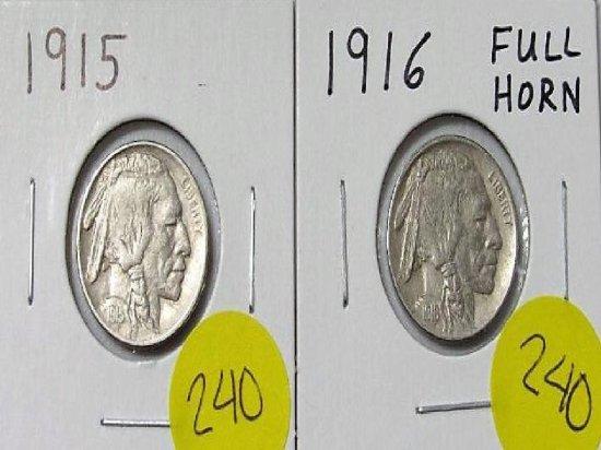 1915, 1916 Buffalo Nickel