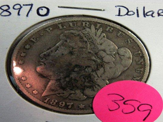 1897O Morgan Dollar