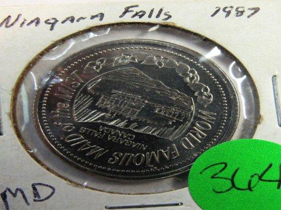 1987 Niagara Falls Token