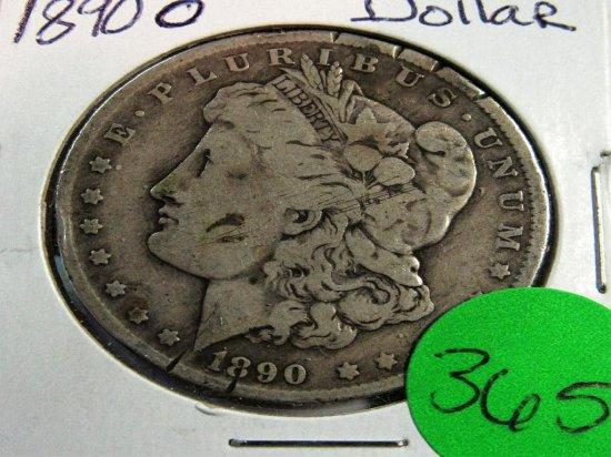 1890O Morgan Dollar