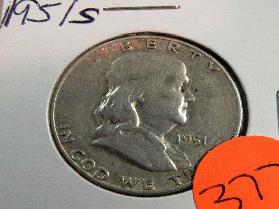 1951 S Washington Half Dollar