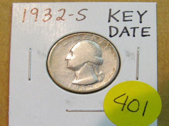 1932-S Key Date Washington Quarter
