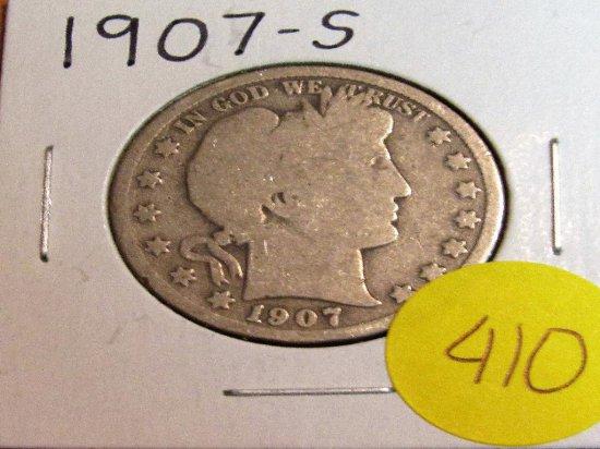 1907-S Barber Half Dollar