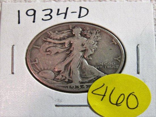 1934-D Walking Liberty Half Dollar