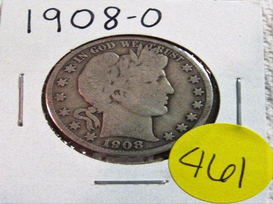 1908-O Barber Half Dollar
