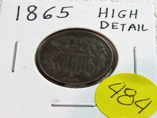 1865 2 Cent Piece