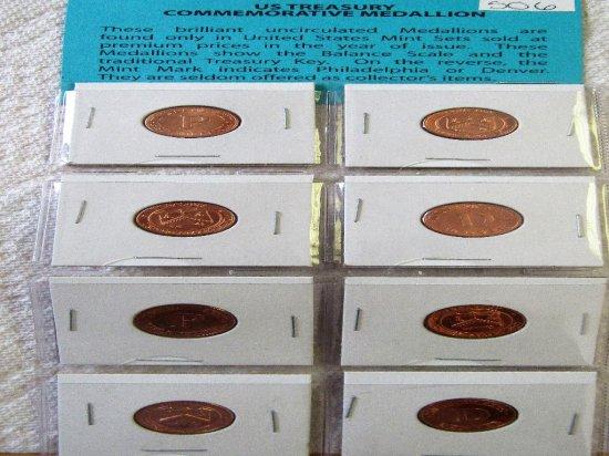 8 Uncirculated Mint Set Medallions