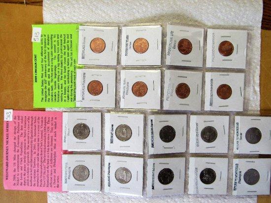 10 Westward Journey Nickels (set), 8 2009 Lincoln Cent Set