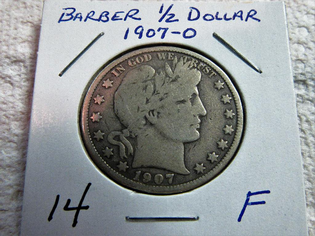 1907-O Barber Half Dollar