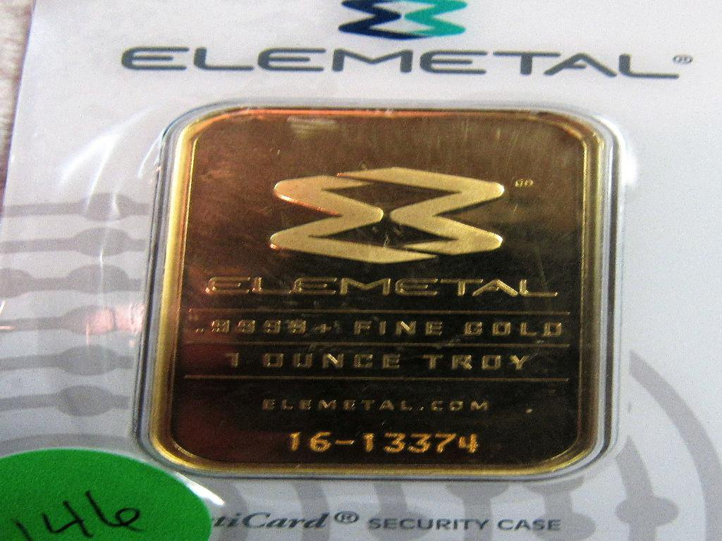 1 OZ ELEMETALGOLD BAR    16-13374