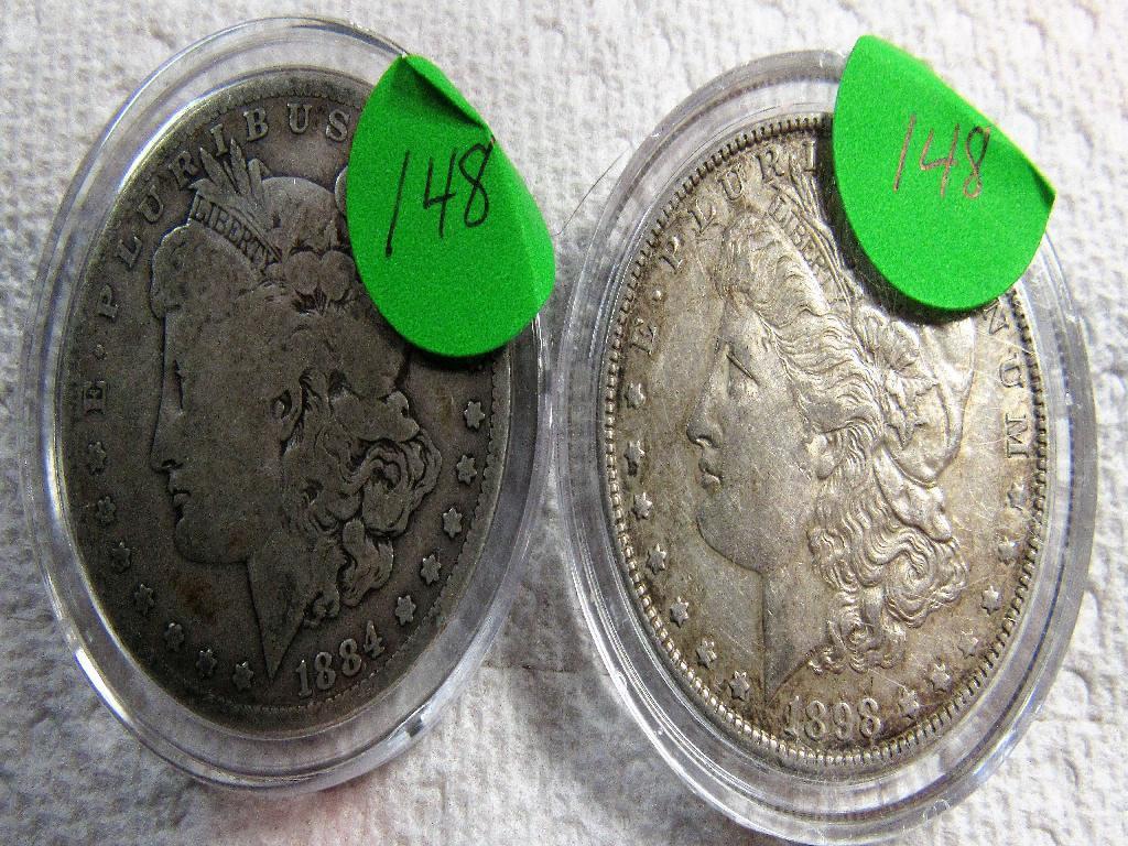 1884,1898 Silver Morgans