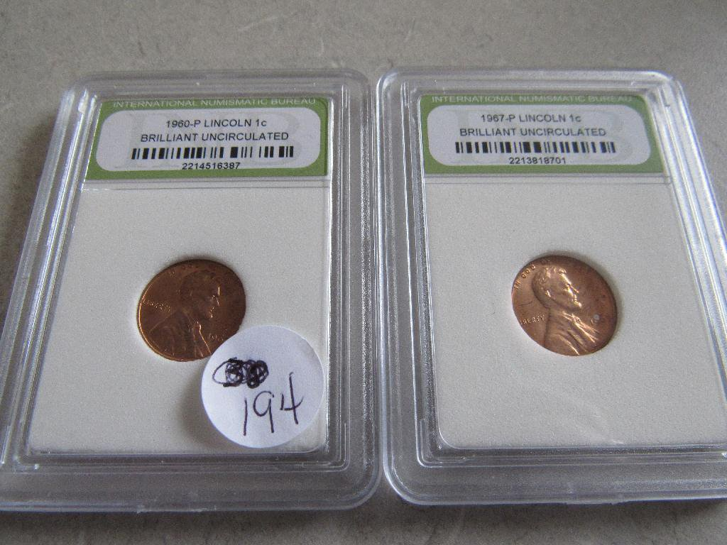 1960-P, 1967-P Lincoln Cents