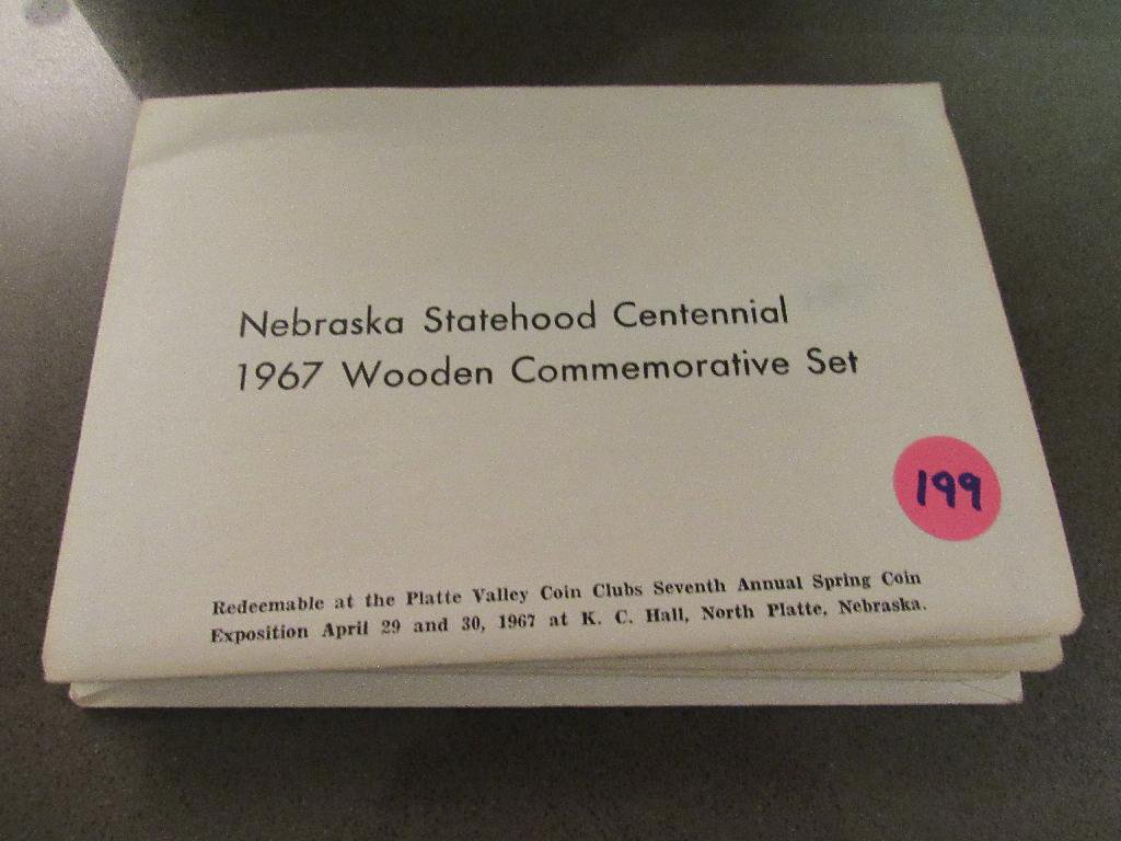 5 NE Statehood Cent 1967 Wooden Comm Set