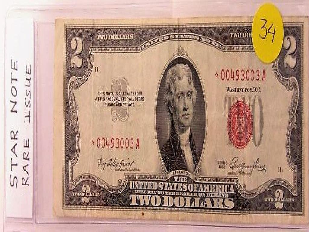 Star Note Rare Issue $2 1953