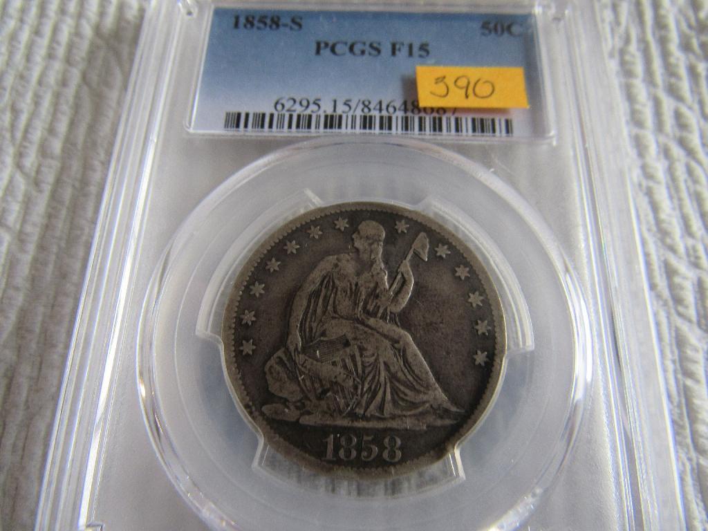 1858-S Seated Liberty Half Dollar