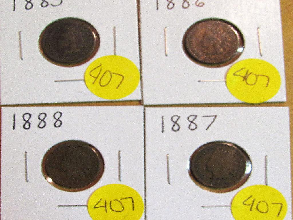 1885, 1886, 1887, 1888 Indian Cents