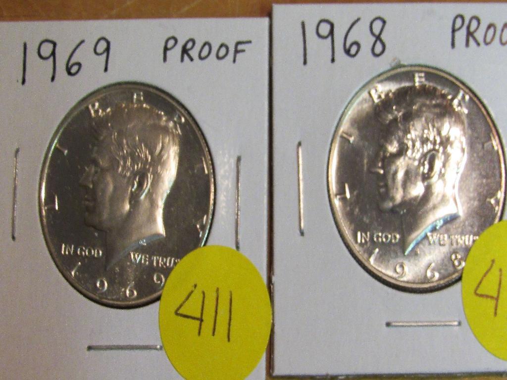 1968, 1969 Proof Half Dollars