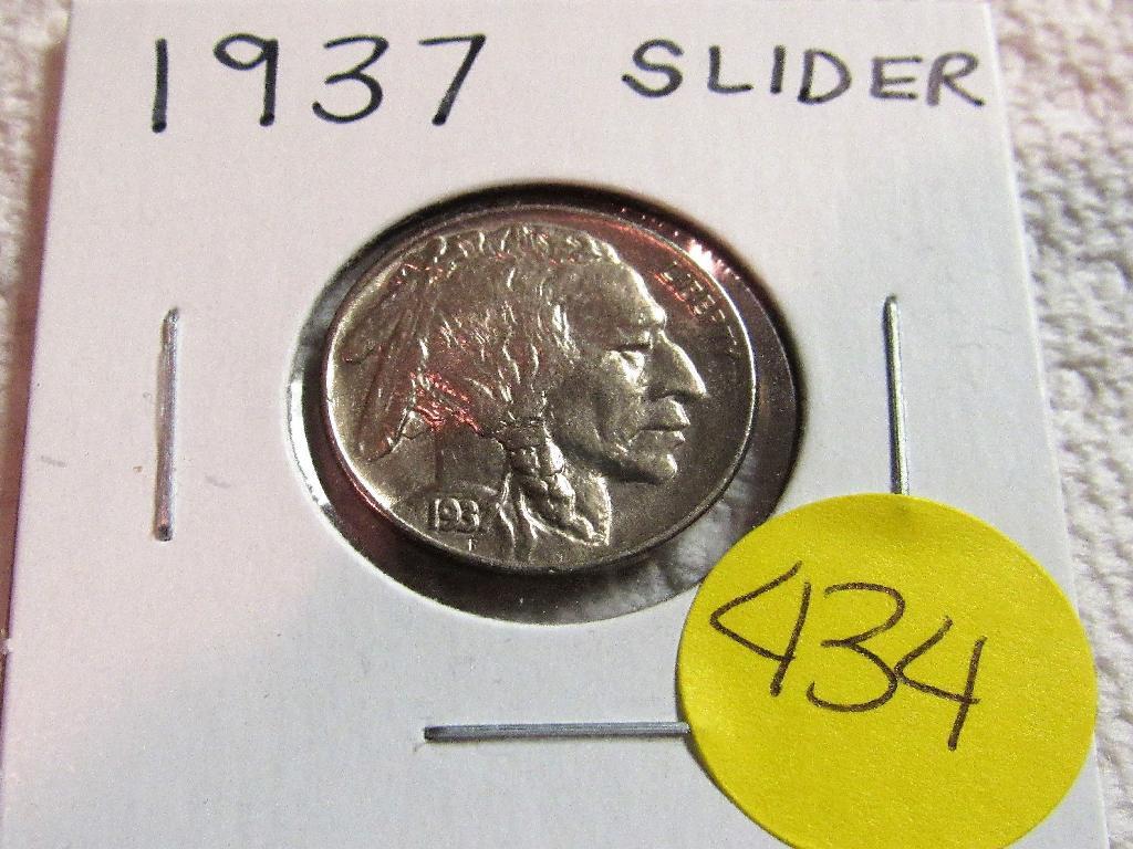 1937 Slider Buffalo Nickel