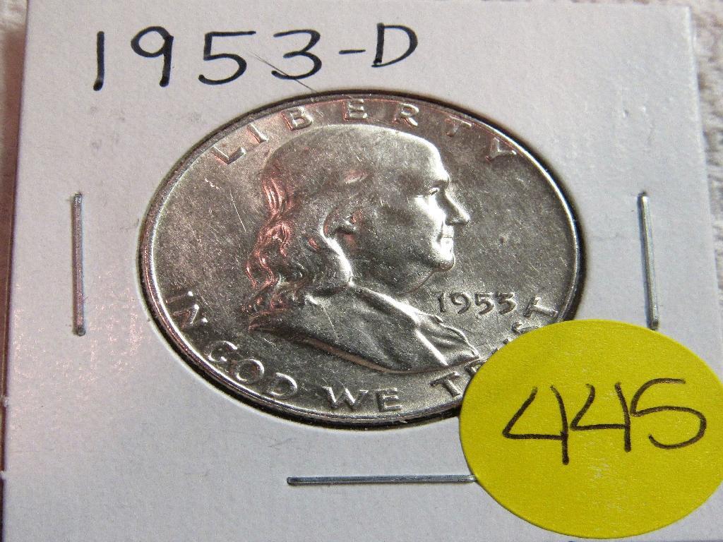 1953-D Franklin Half Dimes